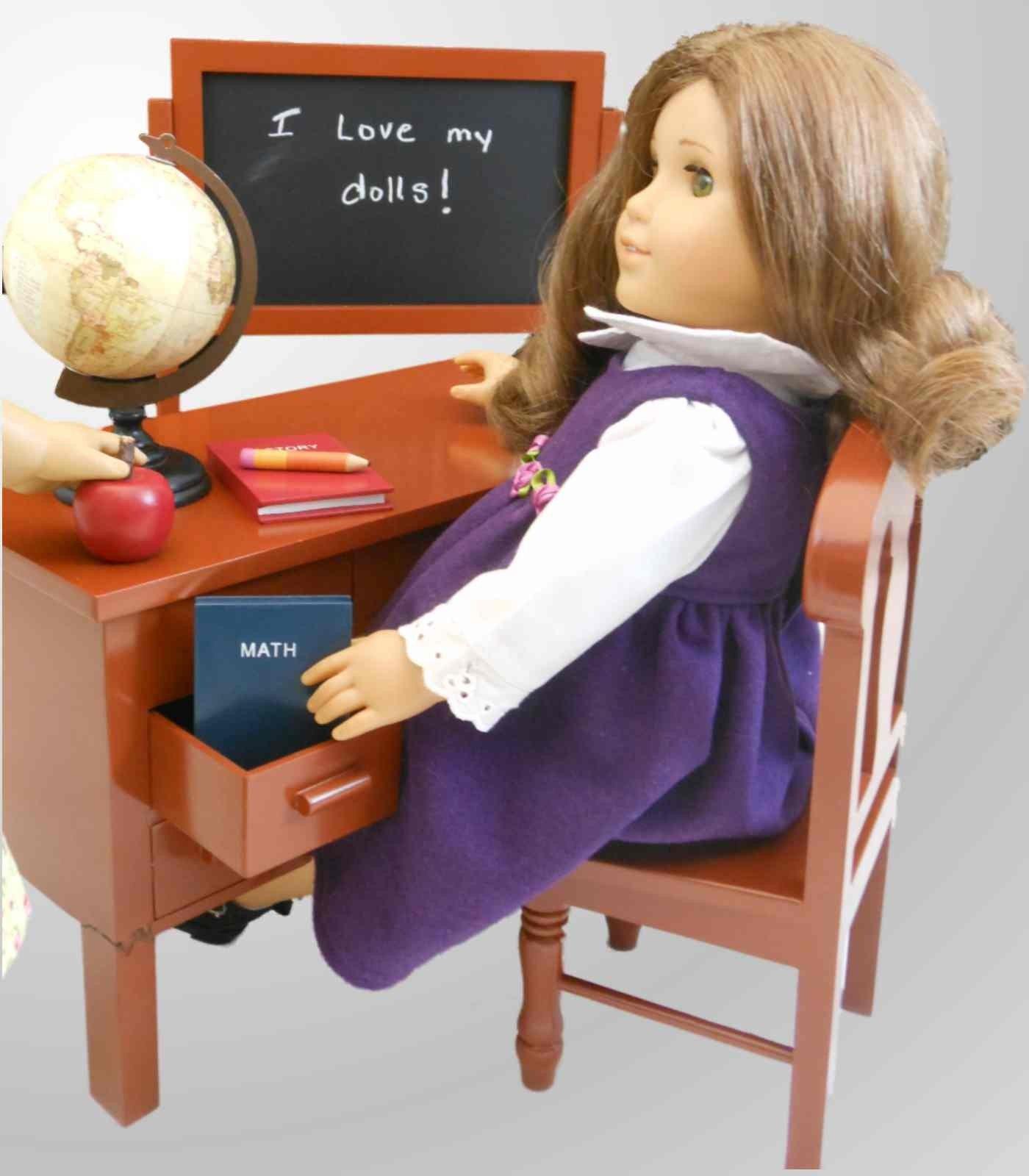American girl doll furniture clipart.