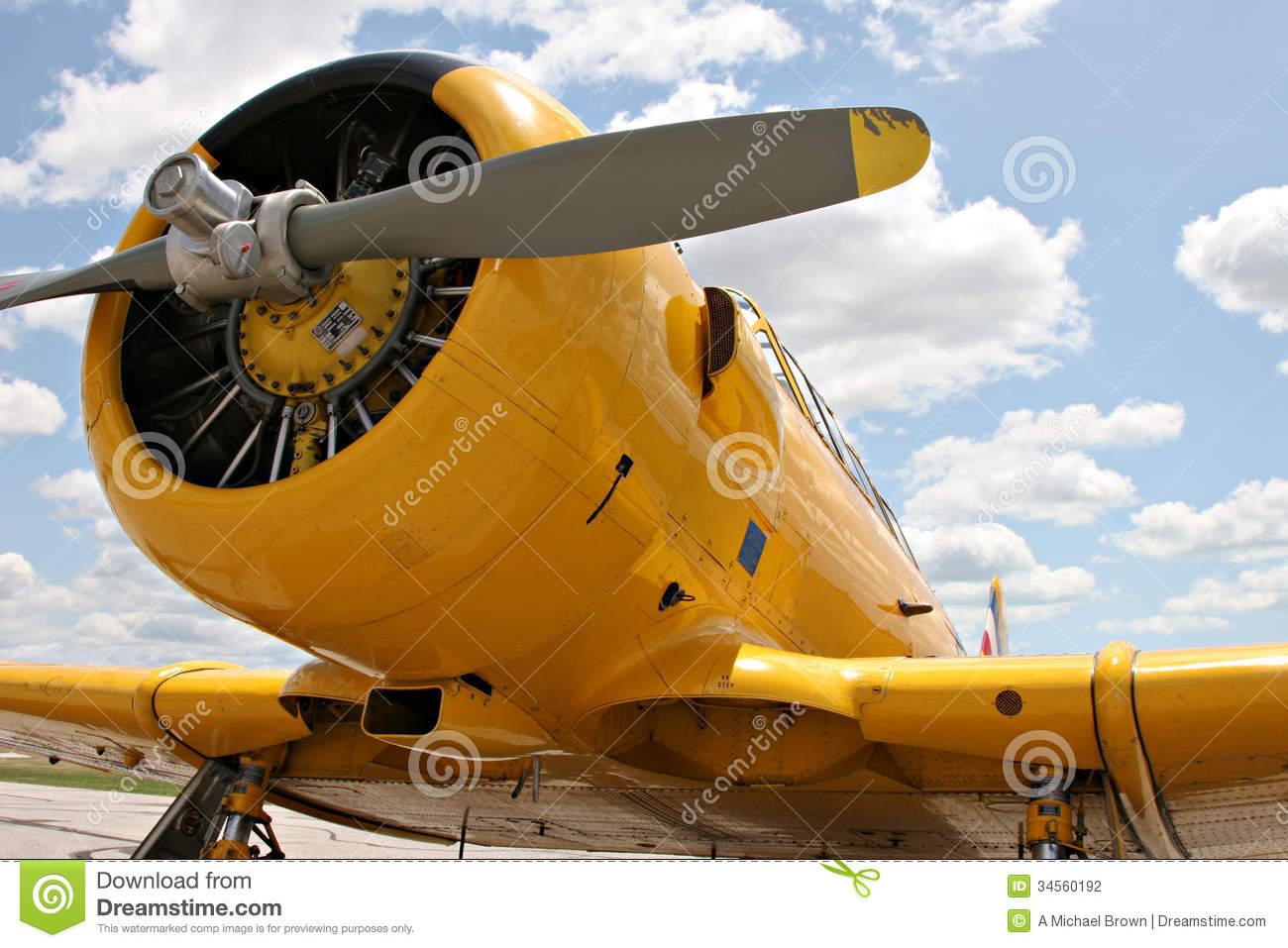 North American Harvard Aircraft Stock Photography.