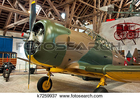 Picture of North American T6 Harvard plane k7259937.