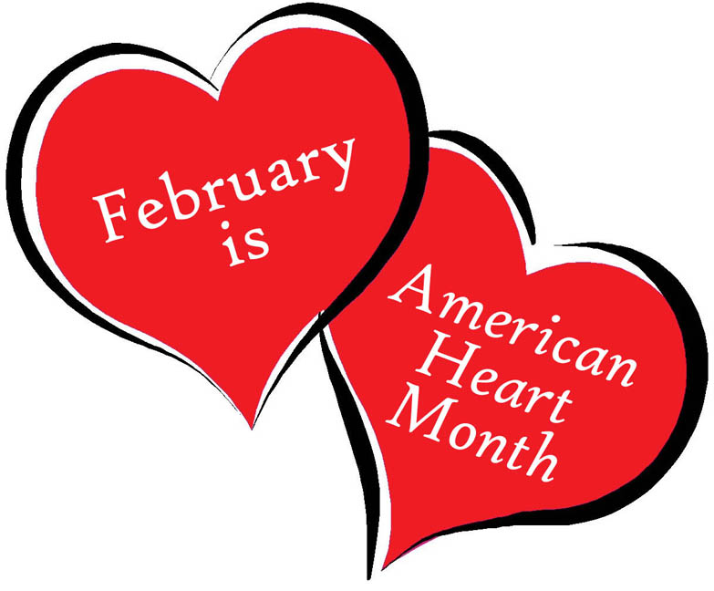 American Heart Month 2018 Clipart.