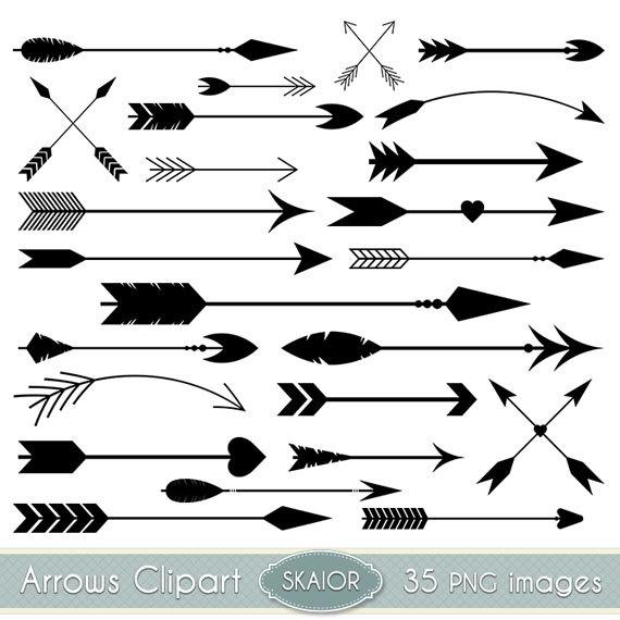 Arrows Clipart Vector Arrows Clip Art Tribal Digital Arrows.