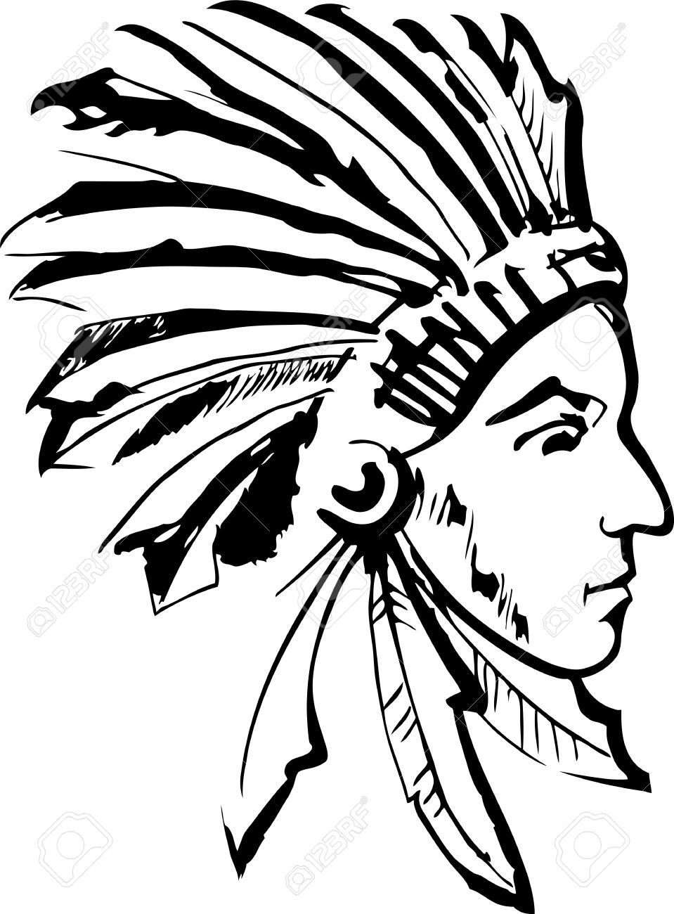 American indian chief clipart 6 » Clipart Station.