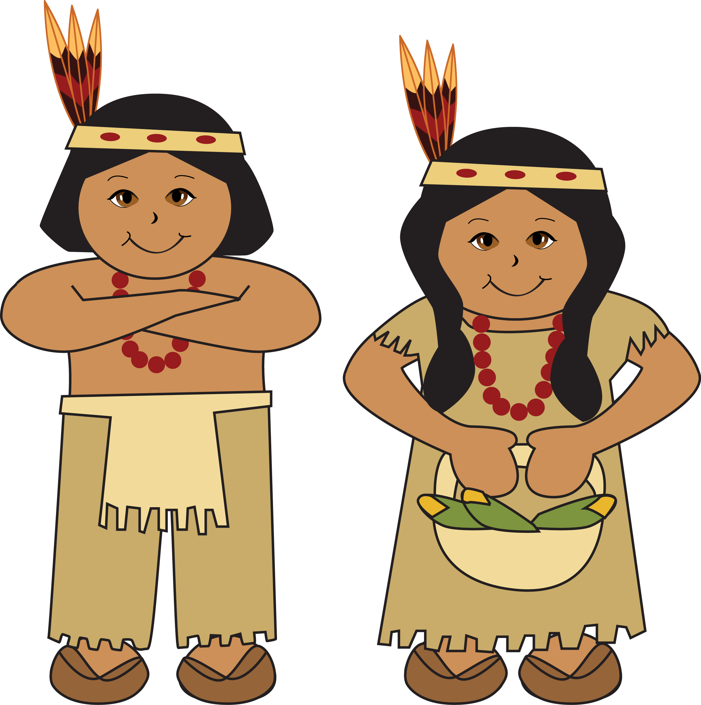 Clipart native american indian.
