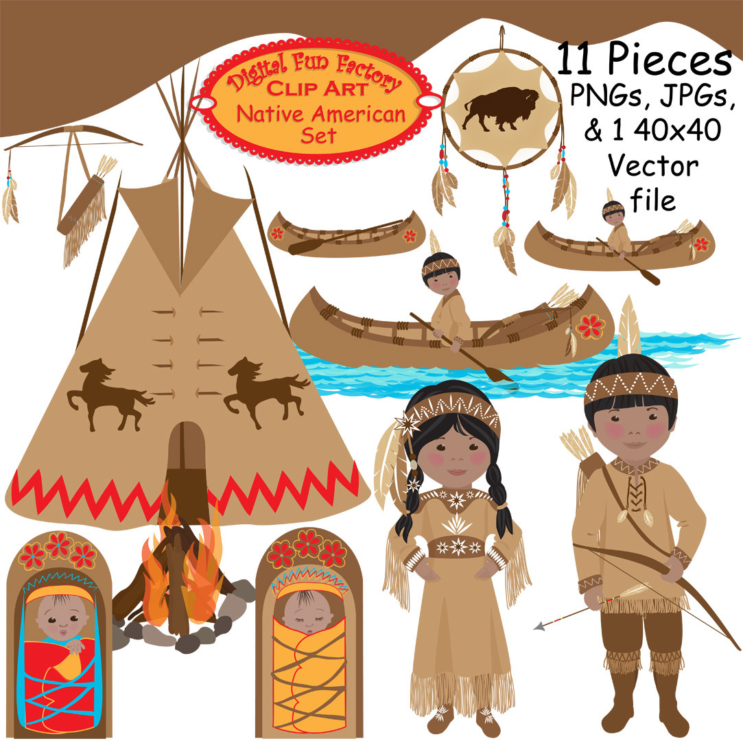 American indian clip art.