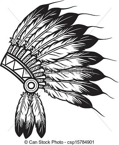 Vector Clipart of indian chief headdress.