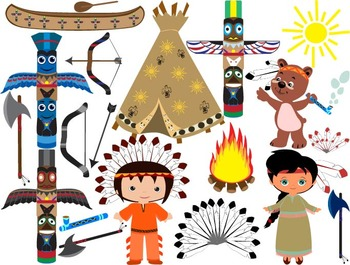 Native American, indian,Clip Art.