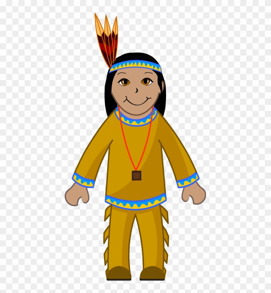 Clip Art Of An American Indian.