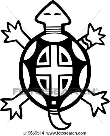 animal, southwest, tribal, turtle, Clipart.