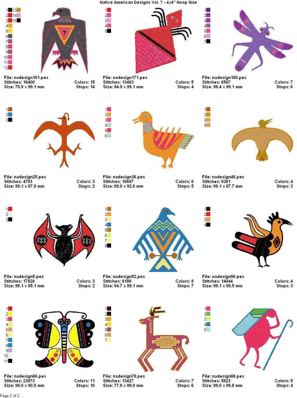 Peachy American Indian Designs Clip Art.