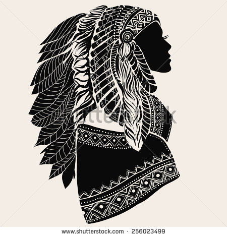 Native American Headdress Stock Images, Royalty.