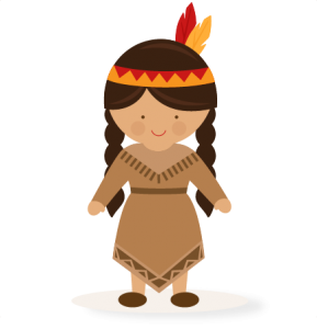 Thanksgiving Girl Native American SVG scrapbook cut file cute.