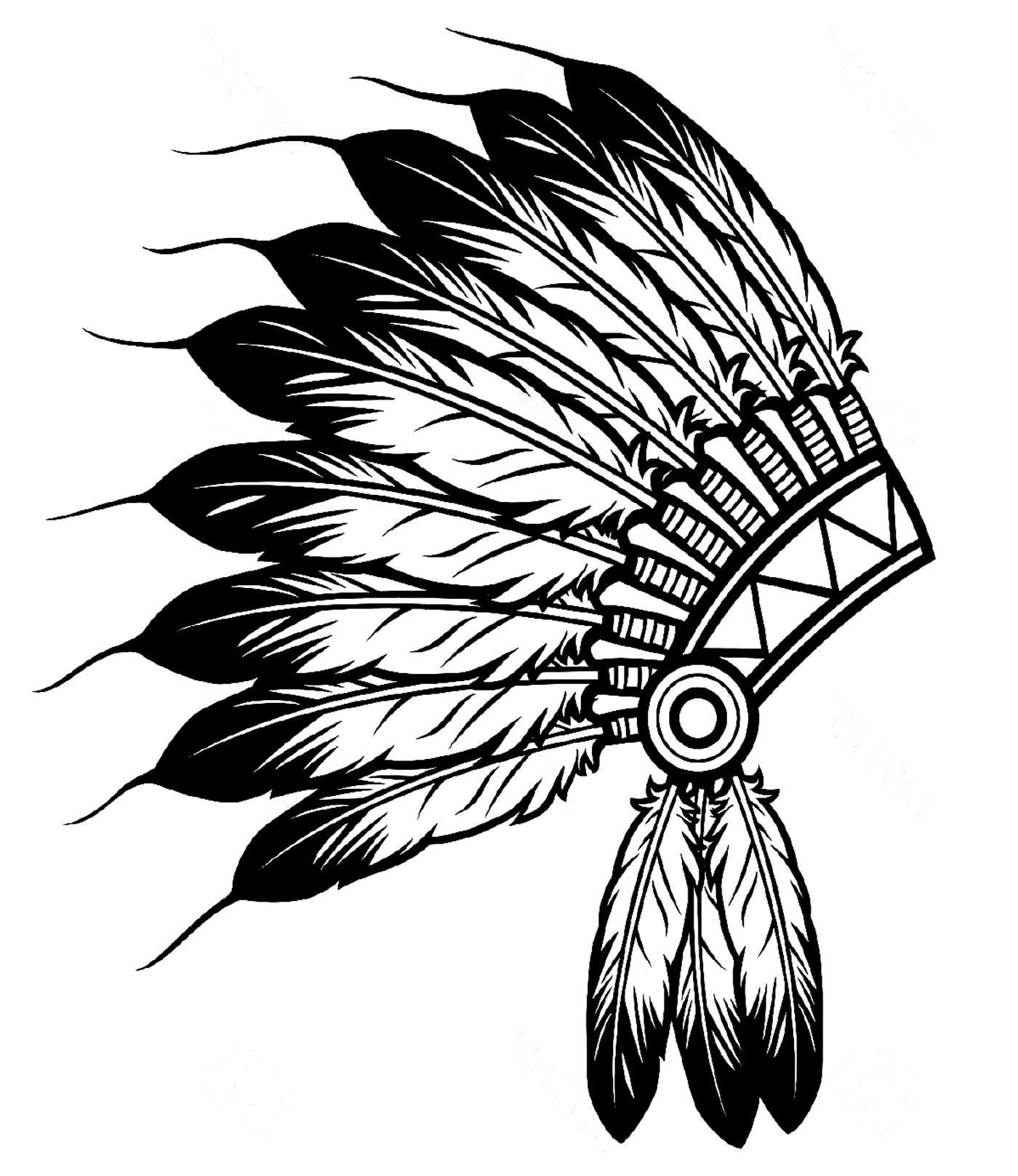Free Indian Headdress Clipart Black And White, Download Free.
