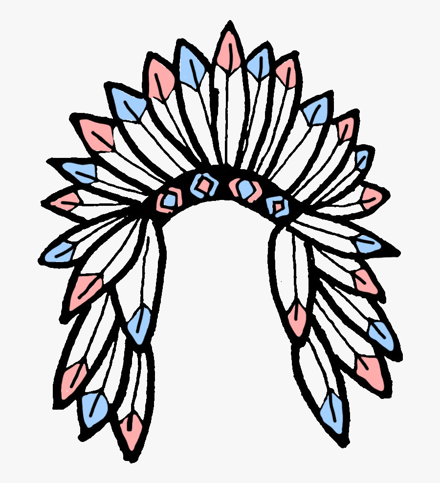 Native American Headdress Transparent Clipart , Png.