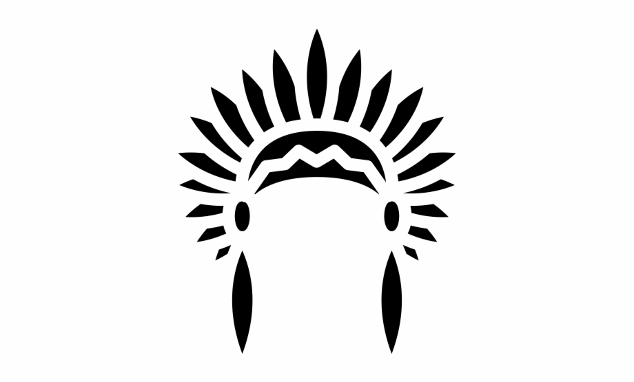 Native American Headdress Rubber Stamp National Inventors.