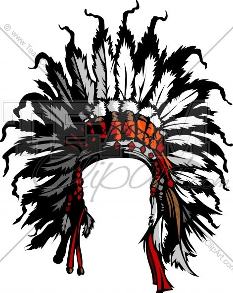 Clipart Indian Headdress Image. Easy to Edit Vector Format.