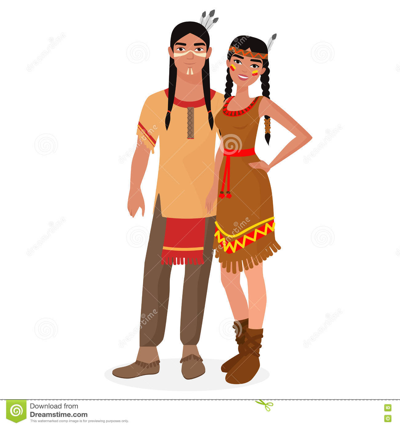 American Indian Man Clipart.