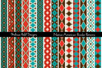 Native American Border Patterns Clipart.