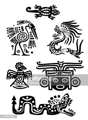 American Indian national patterns Clipart Image.