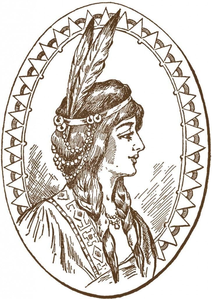 5 Native American Clipart.