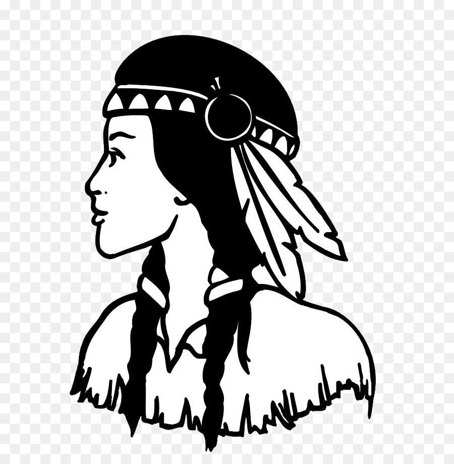 Native Americans in the United States Cherokee Silhouette.