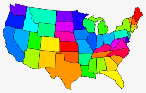 Free Map Of Usa Clip Art with No Background.