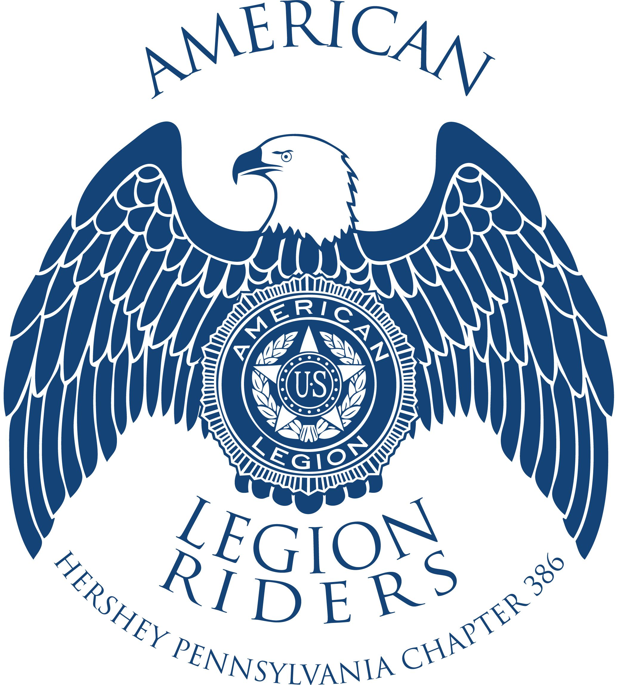 American Legion Riders Hershey Pennsylvania Chapter 386 logo.