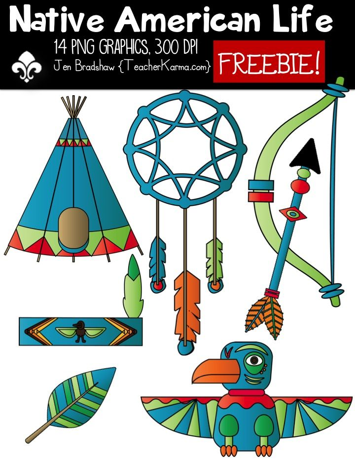 Native American Life CLIPART FREEBIE! Snag yours today.