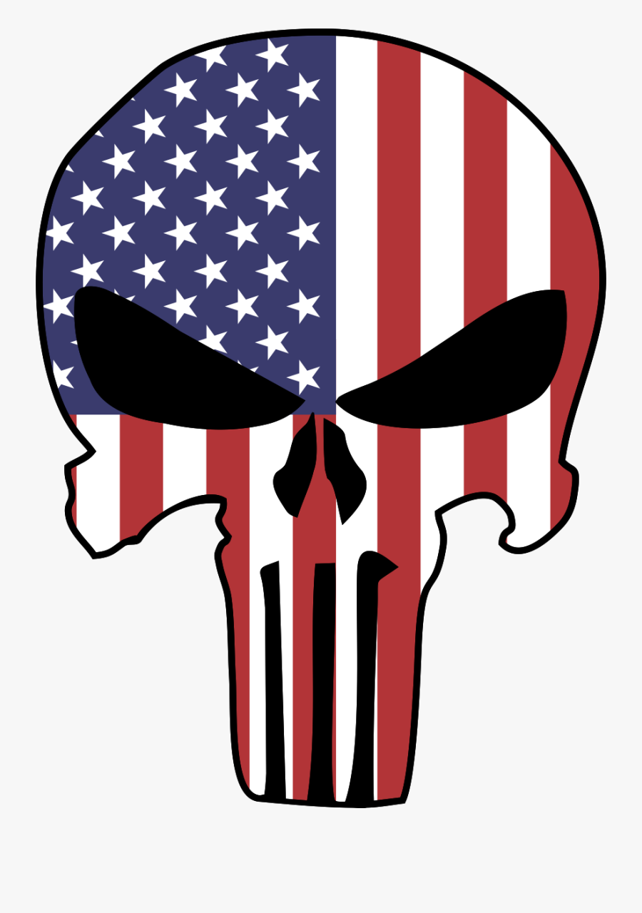 Punisher Logo American Flag , Free Transparent Clipart.