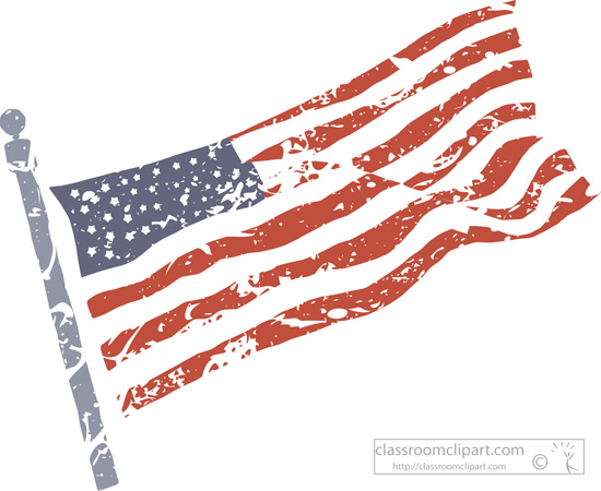 American flags memorial day clipart.