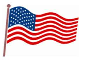Memorial day flag clipart.