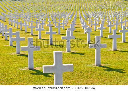 American War Cemetery World War Ii Stock Photo 103900394.
