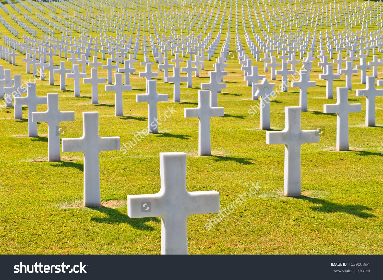 American War Cemetery World War Ii Stock Photo 103900394.