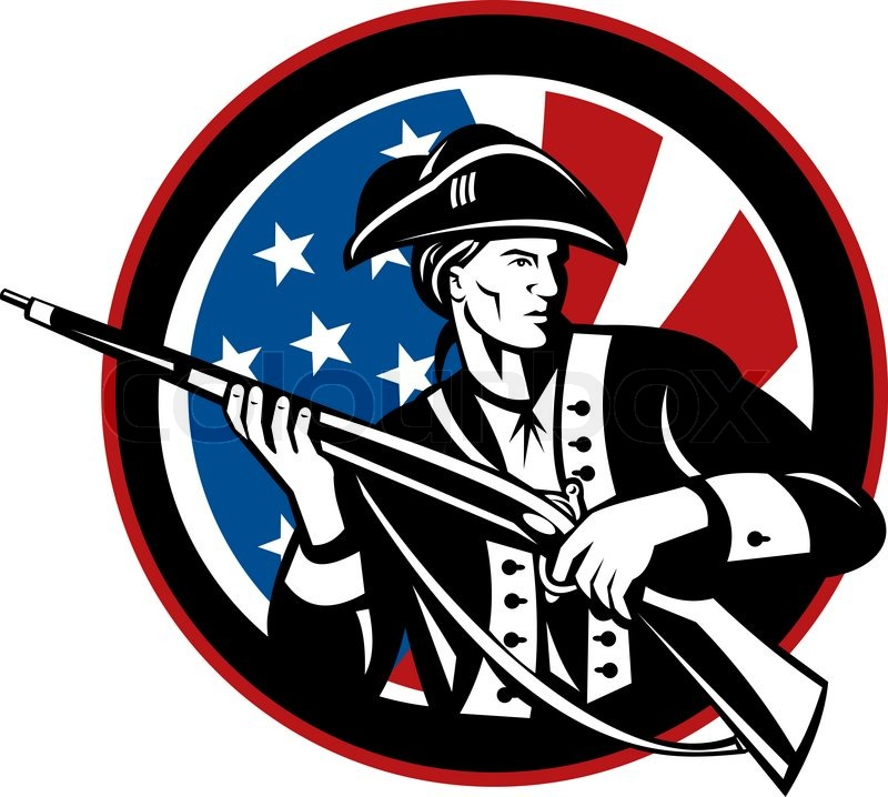Collection of Minuteman clipart.