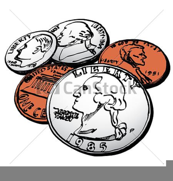 American Money Coin Clipart Pictures.