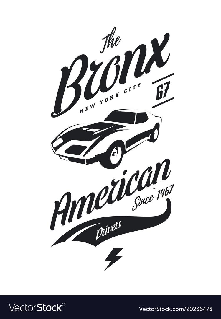 American muscle car tee.