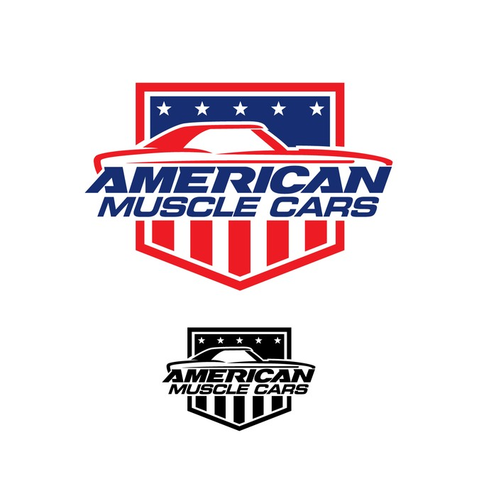 Design a cool Logo for American Muscle Cars.
