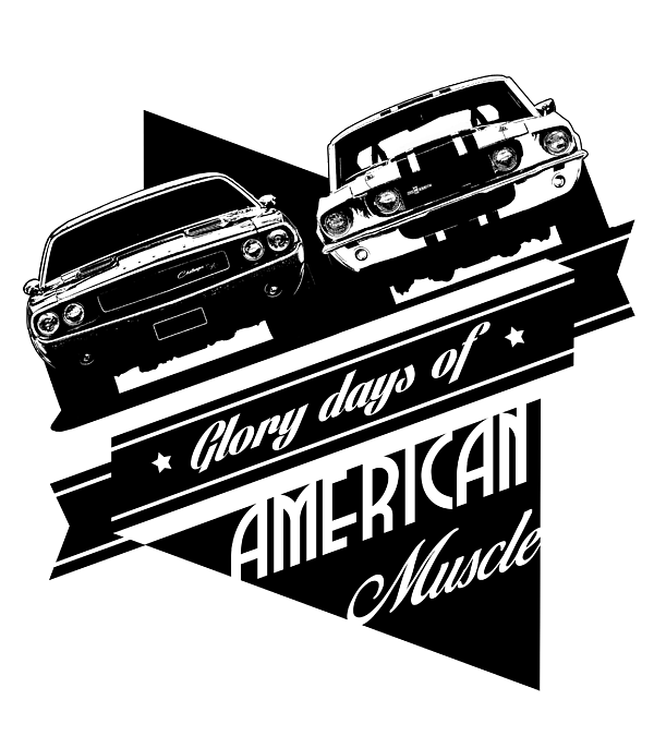American Muscle Cars Kids T.