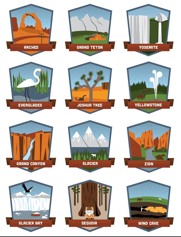 National Park Badges on Behance.