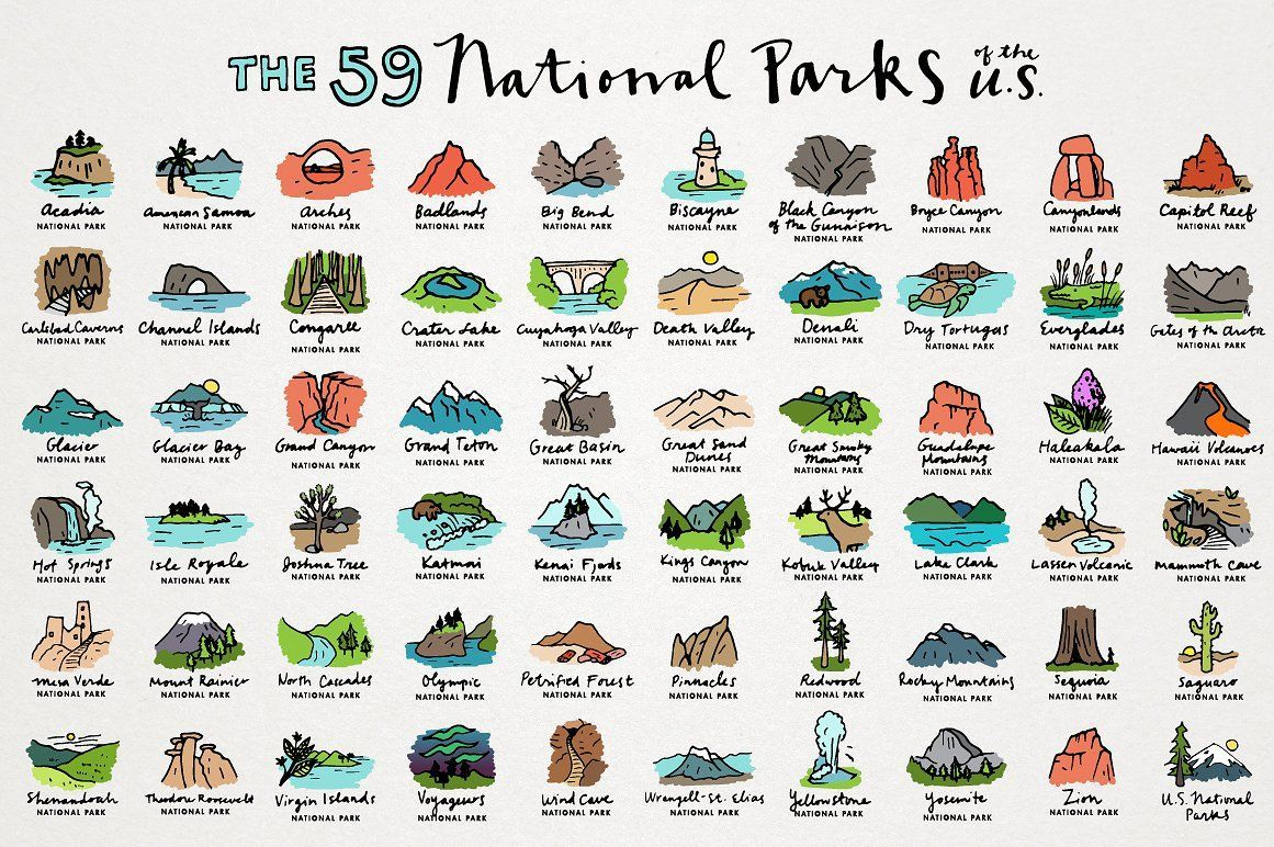 Very good Icons #Graphics US National Parks Icon.