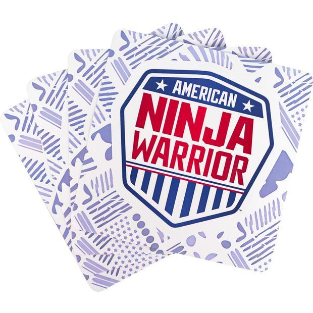 American Ninja Warrior Shield Stickers.