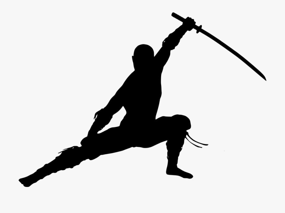 Ninja Warrior Silhouette , Transparent Cartoon, Free.