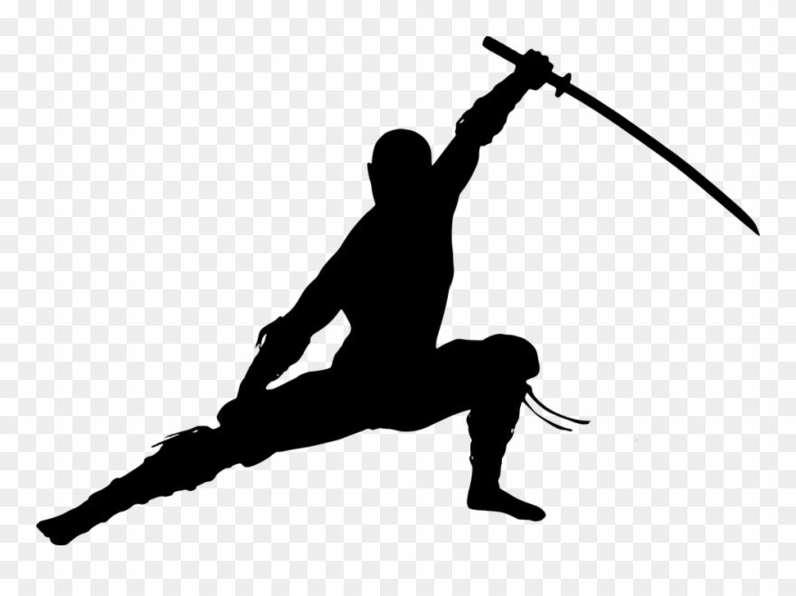 Free Photo Warrior Ninja Man Silhouette Martial Arts.
