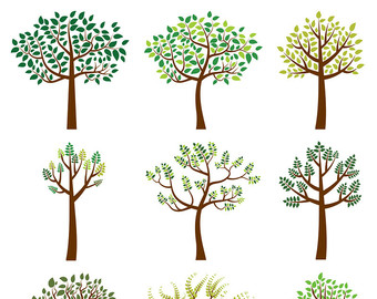 Autumn tree clip art Fall tree clipart Oak tree by Pravokrugulnik.