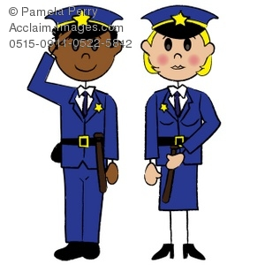 Black Police Officer Clipart.