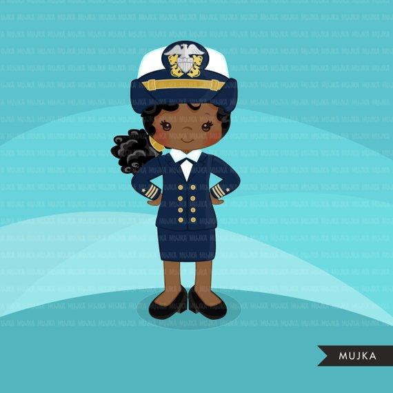Female Navy Officer Clipart. Little girl Graphics, Sailing.