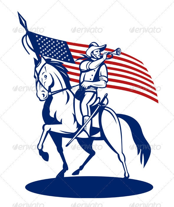 American Patriot Cavalry Rider.