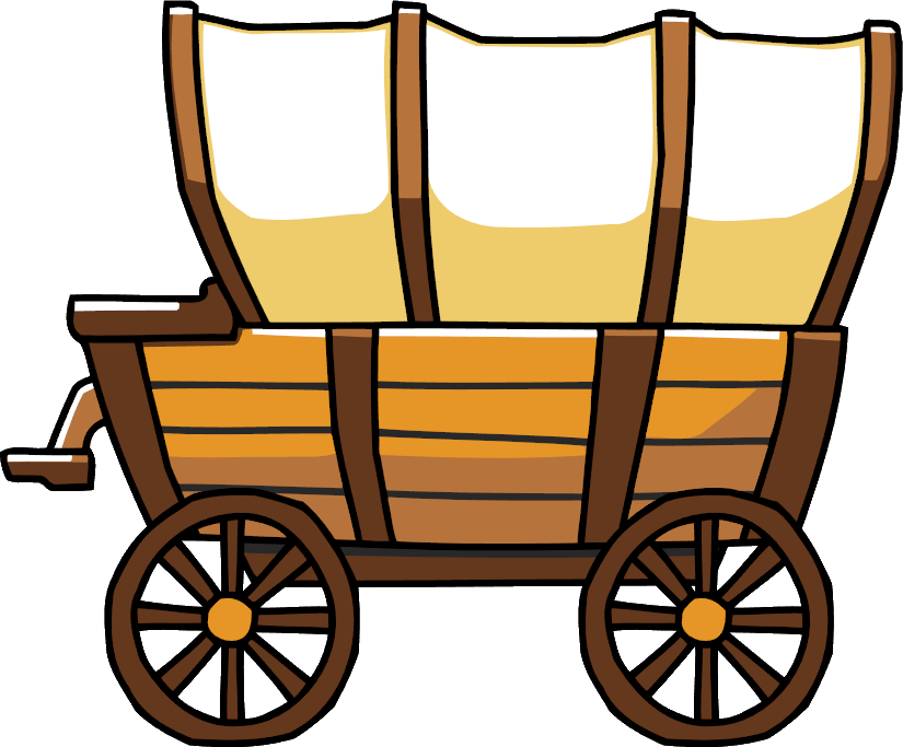 Pioneer clipart waggon, Pioneer waggon Transparent FREE for.