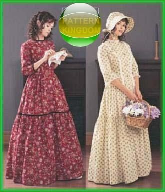Butterick 3992 American Colonial Pioneer Dress & Bonnet.