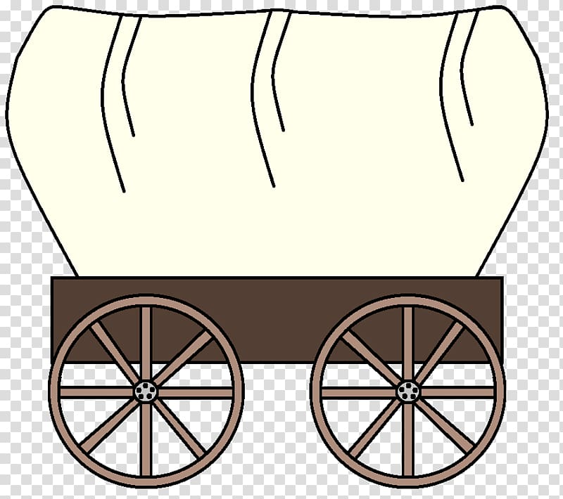 Brown and white carriage , The Oregon Trail American.