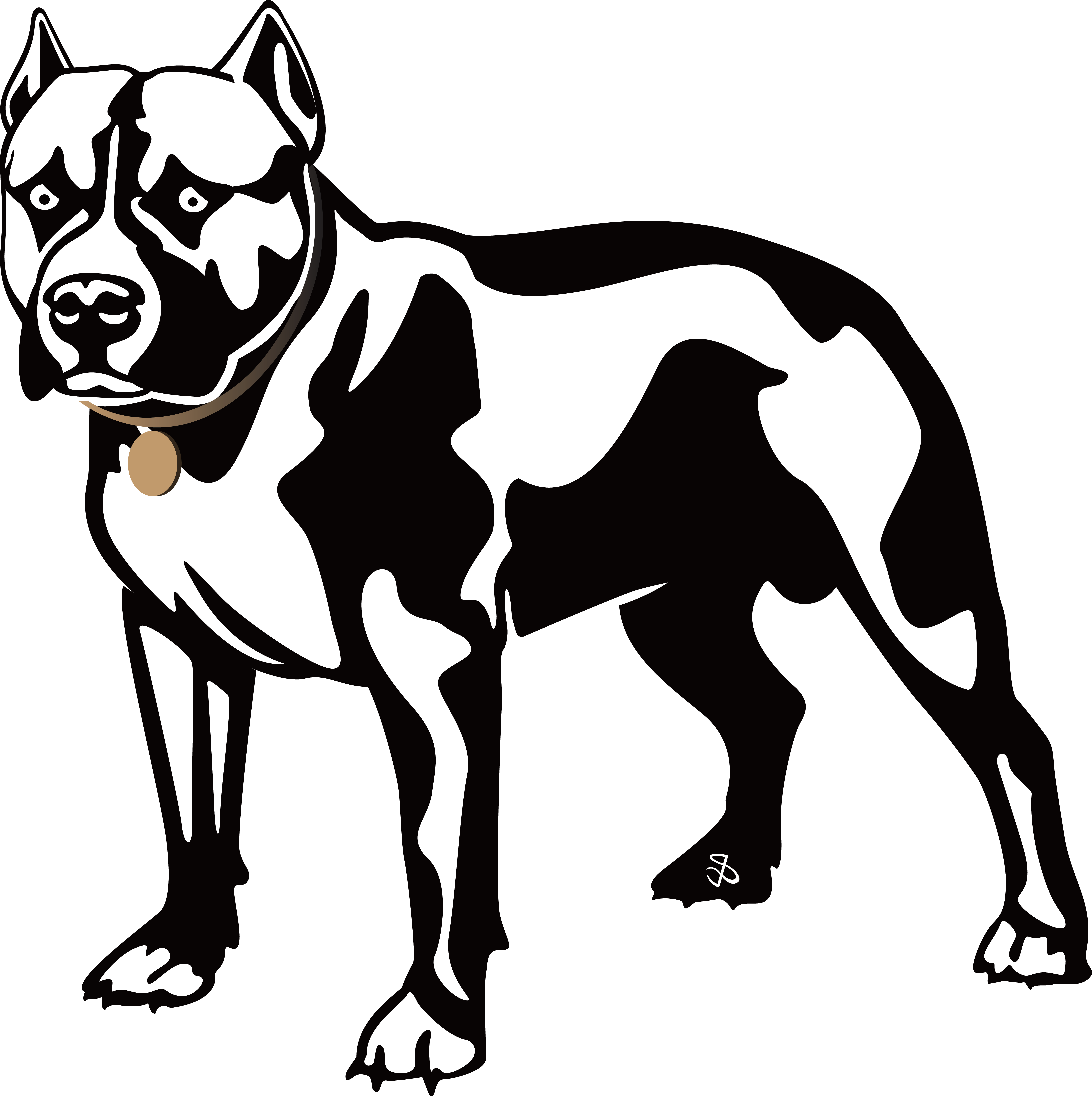 Pitbull clipart loyal dog, Pitbull loyal dog Transparent.